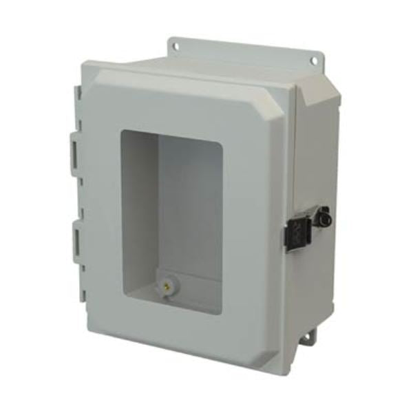 Ultra-Line Fiberglass Series Enclosure- Hinge Metal Snap Latch Opaque Cover With Window