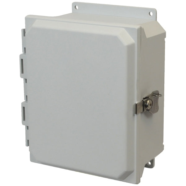 Ultra-Line Fiberglass Series Enclosure-Hinge Twist Latch Opaque Cover
