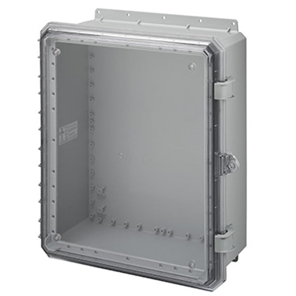 Genesis Series Polycarbonate Enclosure with Hinge Opaque 3pt Non-Metallic Locking Latch Cover