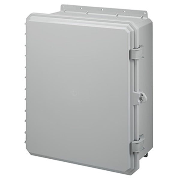 Genesis Series Polycarbonate Enclosure with Hinge Opaque Non-Metallic Locking Latch Cover