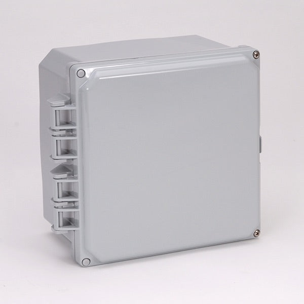 6X6X4 Premium Series NEMA 6P Polycarbonate Enclosure with Hinge Opaque Screw Cover