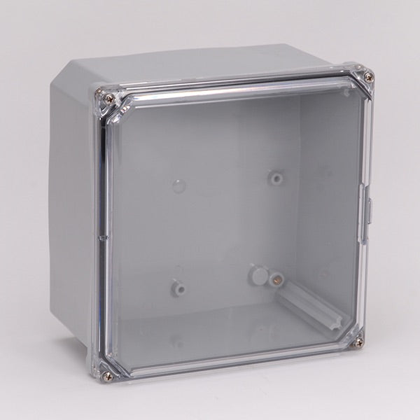 6X6X4 Premium Series Polycarbonate Enclosure with Clear Screw Cover