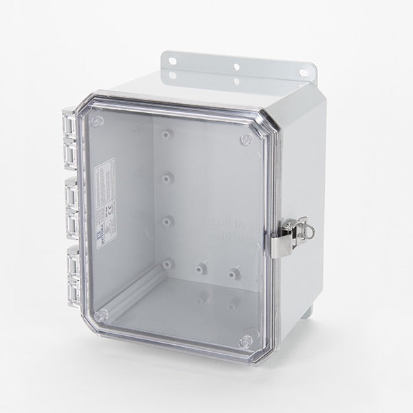 Impact Series Polycarbonate Enclosure With Stainless Steel Locking Latch and Clear Cover