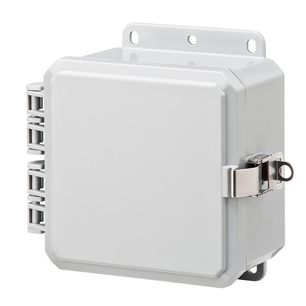 4X4X3 Impact Series Polycarbonate Enclosure With Stainless Steel Locking Latch and Opaque Cover