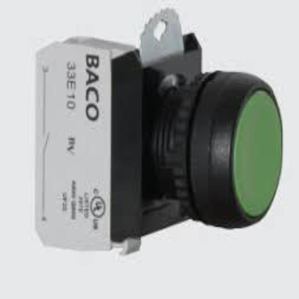 IP69K Rated 22mm Projected Non-Illuminated Pushbutton Multi-Contact -HEAD AND CLIP