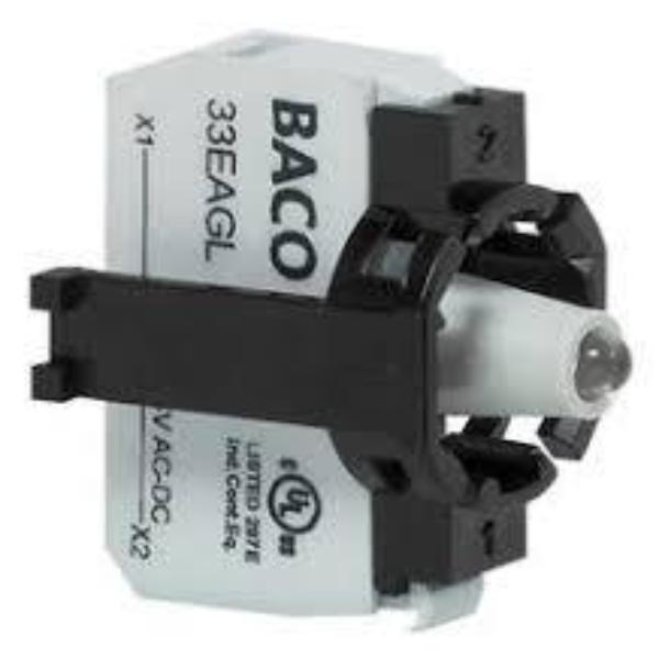 BACO - 22mm/30mm 1-Position Plug-In Terminal LED Contact Block