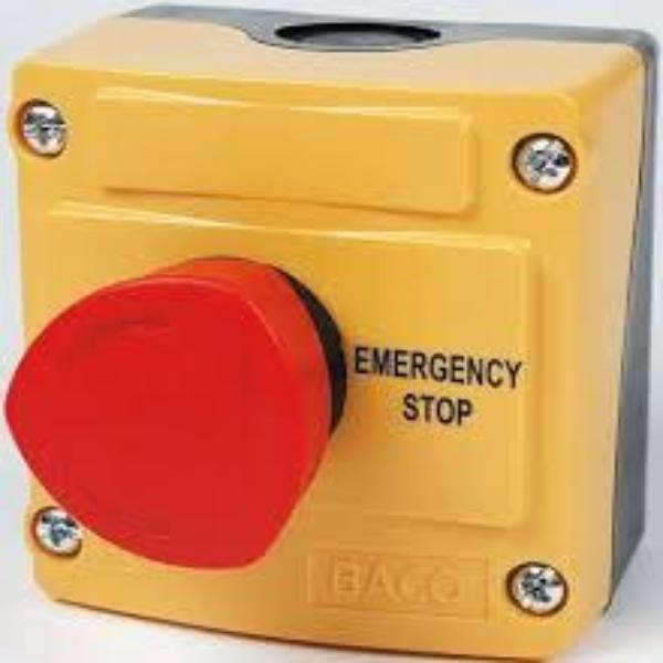 IP69K Rated 22mm Control Station - Emegency-Stop Push-Turn To Reset 40mm Non Illuminated