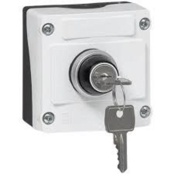 IP69K Rated 22mm Control Station - 1-Hole 2-Position Maintained Keyed Selector Switch Non Illuminated