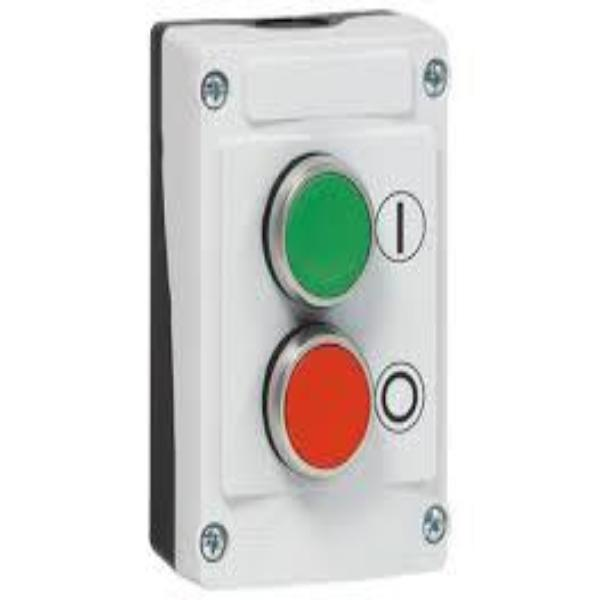 IP69K Rated 22mm Control Station - Two Button Non Illuminated Flush With Spring Return