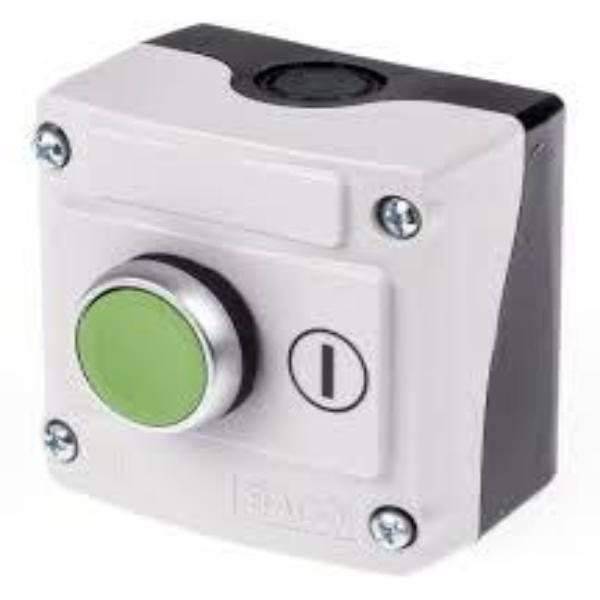 IP69K Rated 22mm Control Station - 1-Hole Spring Return Flush Non Illuminated
