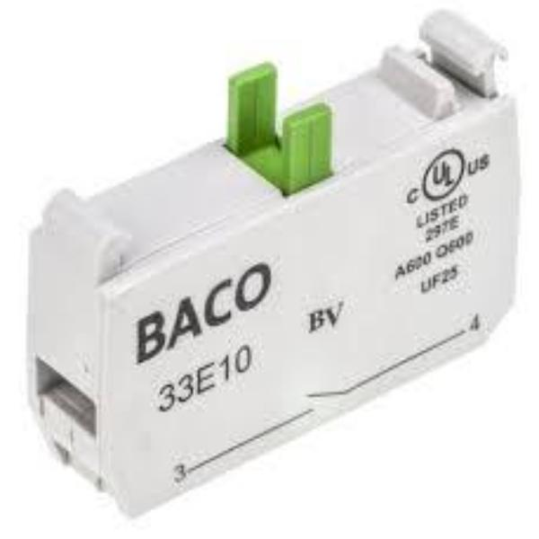 BACO Accessories - 22mm/30mm Screw-In Terminal Contact Block Normally Open And Normally Closed