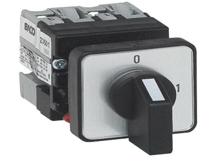 "Mini Cam Switches-ø16/22mm Single Hole Mounting ( 3-way with ""off"" ) General Use Rating 12Amps"