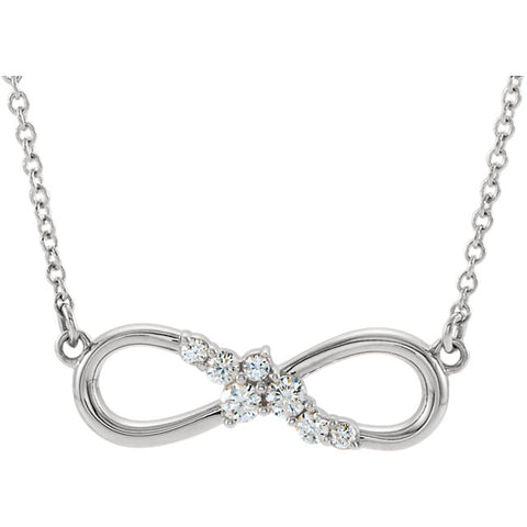 Gold & Diamond Infinity-Inspired Bar Necklace