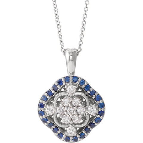 Halo-Style Cluster Necklace or Pendant