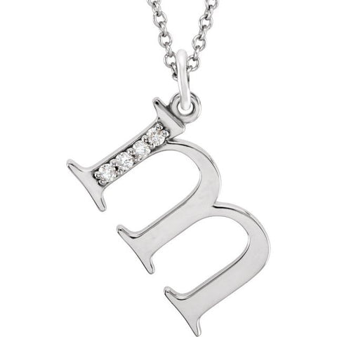 Initial Necklace or Pendant