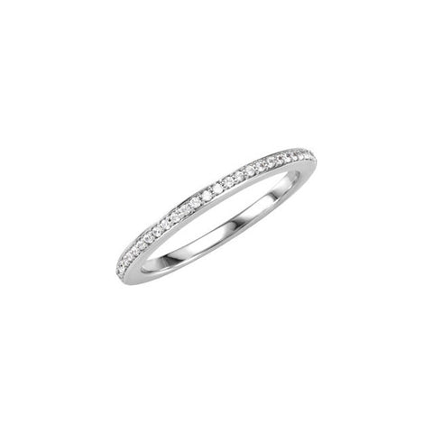14K White Gold 1/8 CTW Diamond Band