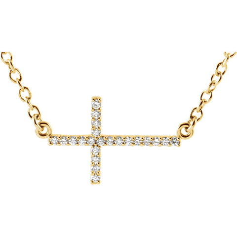 Sideways Cross Necklace or Center