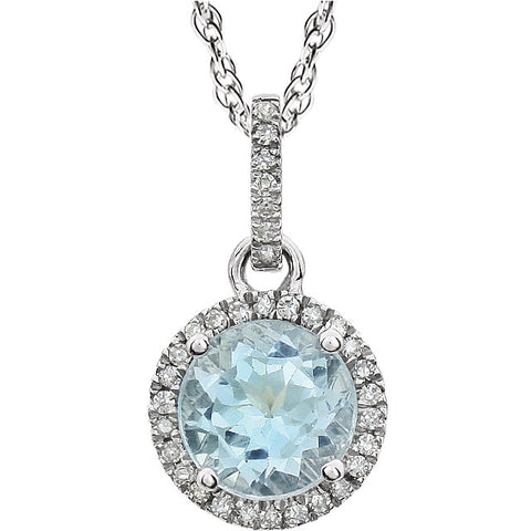 Halo-Style Birthstone Necklace