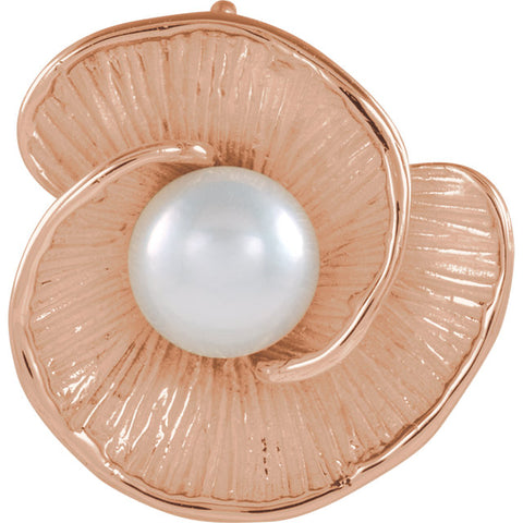 Floral Pearl 14K Pedant