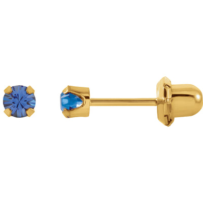 14K Yellow Gold Blue Sapphire Inverness® Earrings