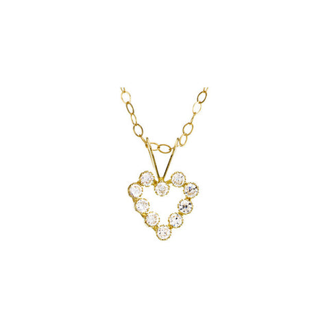 Accented Youth Heart Necklace