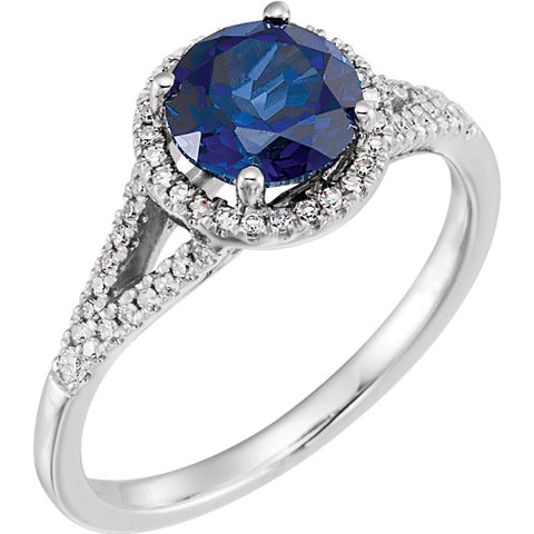 Halo-Style Birthstone Ring