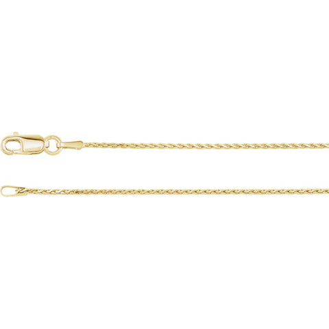Wheat Diamond Cut Chain - 1mm