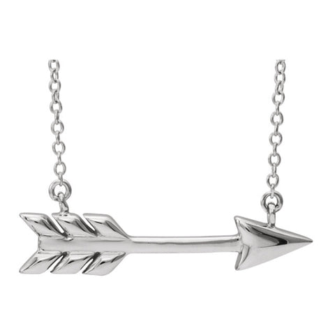 14K Gold Arrow Necklace.