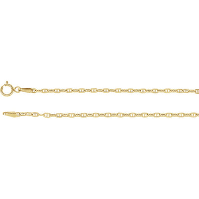 14K Yellow Gold 1.75mm Hollow Anchor Chain