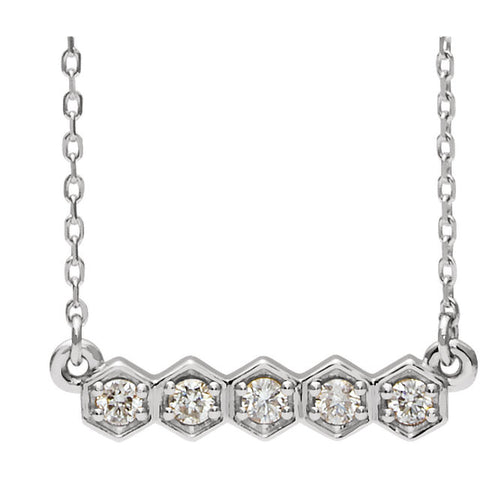 Five-Stone Bar Necklace or Center