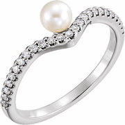 Asymmetrical Pearl Ring