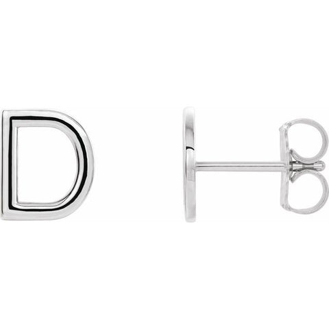 Single Initial Earring