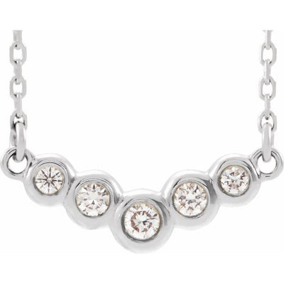 "Bezel-Set ""V"" Diamond Necklace"