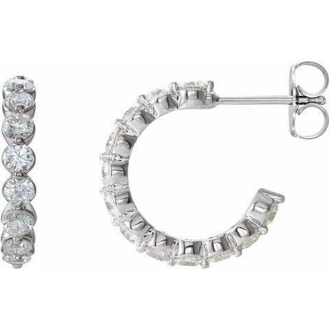 Accented Hoop Earrings