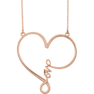 """Love"" Heart Infinity-Inspired Necklace"
