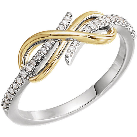 Infinity-Inspired 14K Two-Tone Ring