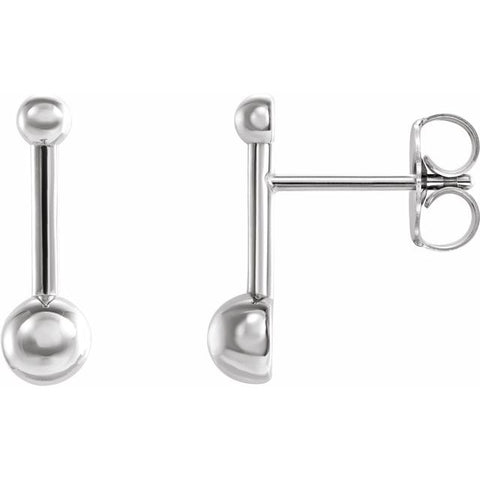 Bar & Ball Earrings