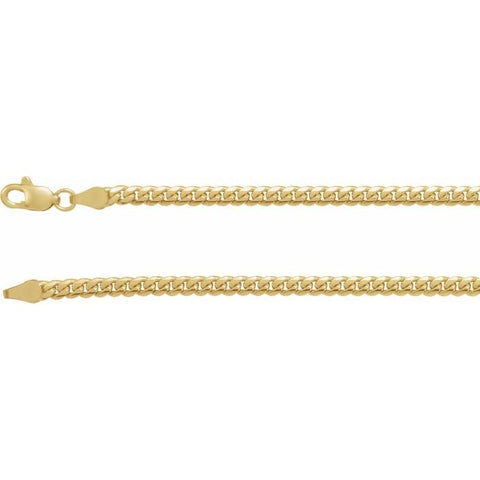 3.3 mm Miami Cuban Link Chain