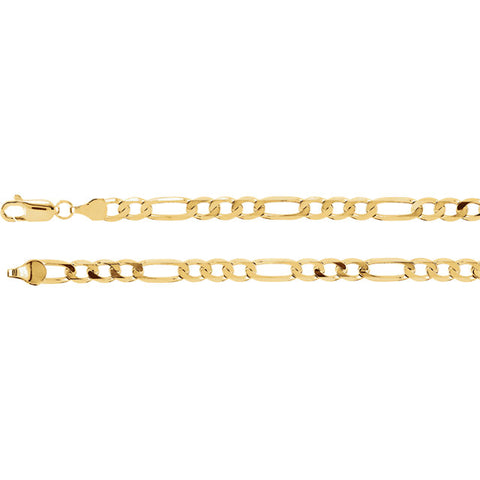 14K Gold 5mm Figaro Chain