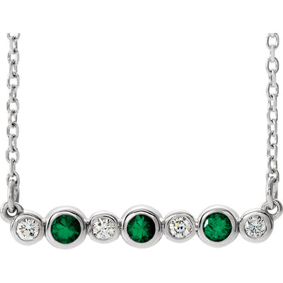 Bezel-Set Bar Necklace