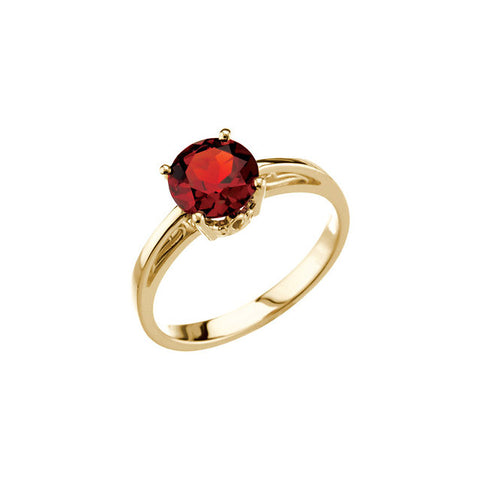 14K Gold Ring set with Mozambique Garnet