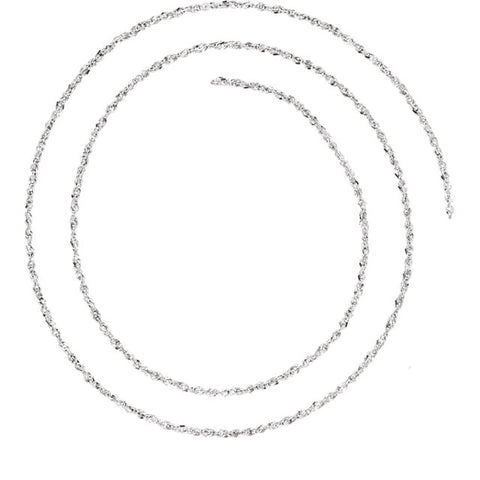 1.25 mm Diamond-Cut Singapore Chain