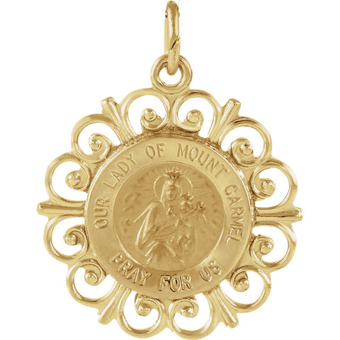 14K Our Lady of Mount Carmel Medal