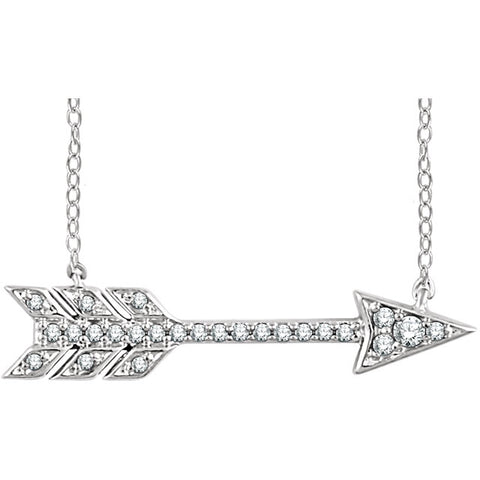 14K Gold & 1/10 CTW Diamond Arrow Necklace