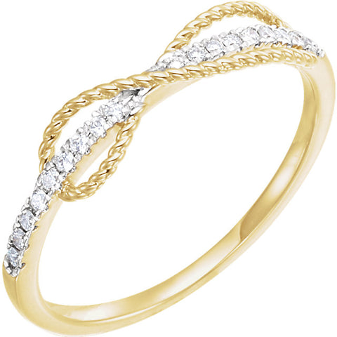 Gold & Diamond Infinity-Inspired Ring