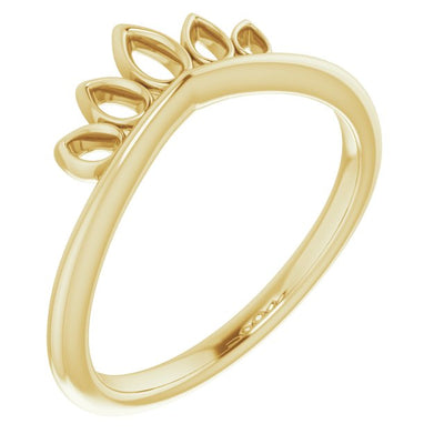 Marquise-Shaped Crown Ring