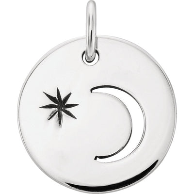 Crescent Moon with Evening Star Charm
