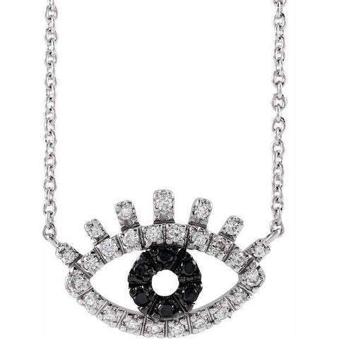 Accented Evil Eye Necklace