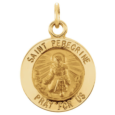 St. Peregrine Medal Necklace or Pendant