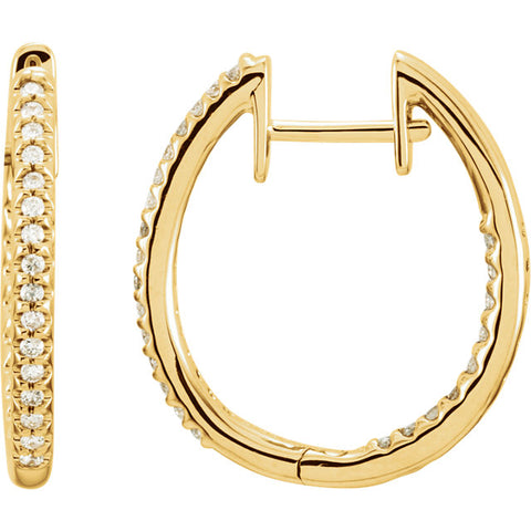 Inside-Outside Diamond Hoop Earrings